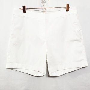J Crew*White Chino Shorts*NWT*Sz 12*